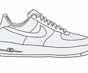 drawing, nike, and outline image