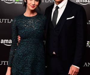 outlander, sam heughan, and caitriona balfe image