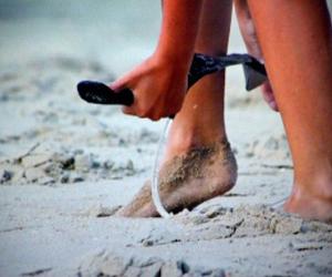 feet, girl, and summer image
