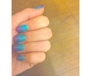 blue, pretty, and nails image