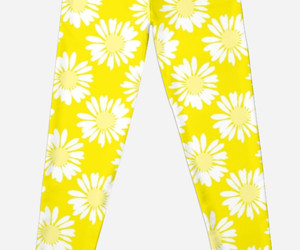 flowers, leggings, and Sunny image