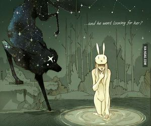 Chiara Bautista, wolf, and moon image