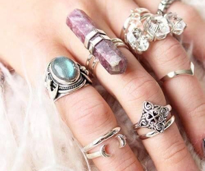 rings, girl, and accessories image