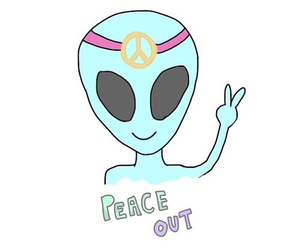 overlay, alien, and peace image