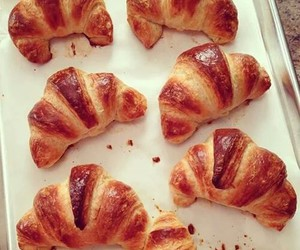 food, yummy, and croissant image