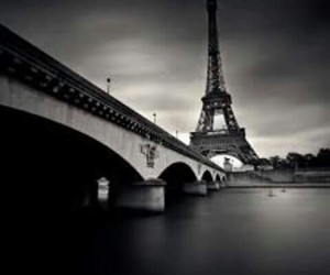 black and white, paint, and paris image