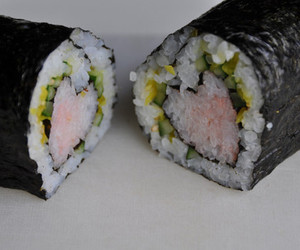 heart, food, and sushi image