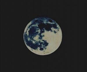 moon, dark, and night image