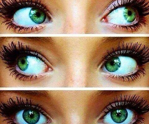 beautiful, eyes, and green image