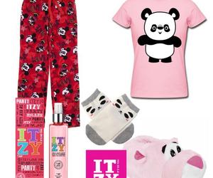 pajamas, panda bear, and itzy image