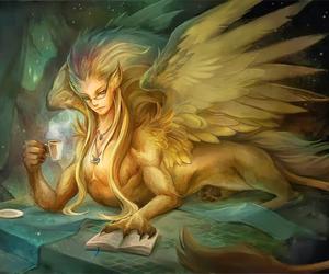 mythology and esfinge image