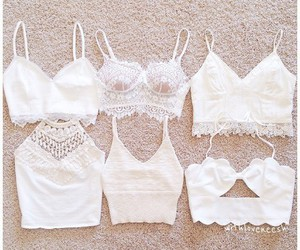 white, clothes, and tops image