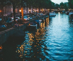 amsterdam, light, and travel image