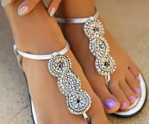 feet, beauty, and nails image
