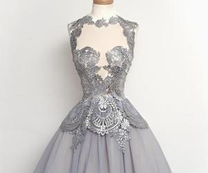 dress, grey, and silver image