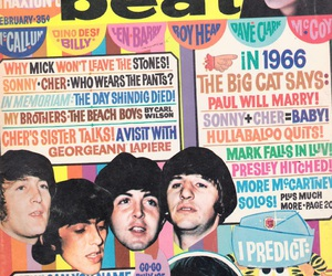 the beatles, vintage, and tiger beat image
