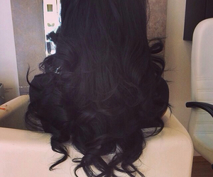 hair, black, and curls image