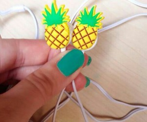 pineapple, music, and nails image