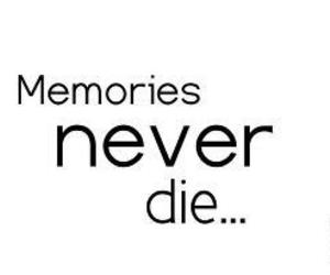 memories, text, and die image