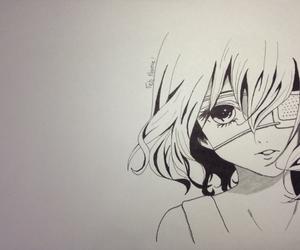 anime, black, and draw image