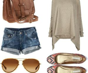 outfit, bag, and shoes image
