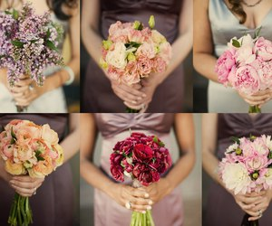 bouquet, bridesmaids, and flowers image