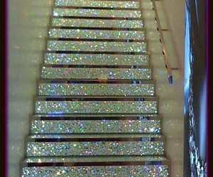 glitter, stairs, and sparkle image