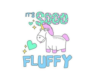 fluffy and unicorn image