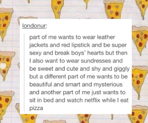 pizza, tumblr, and quote image