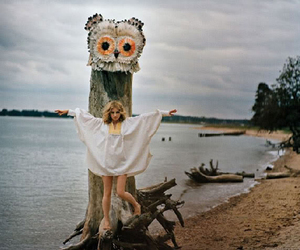 owl, girl, and Goldfrapp image