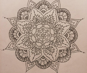 draw, mandala, and pale image