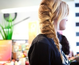 adorable, blonde, and braid image