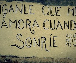 love, smile, and accion poetica image