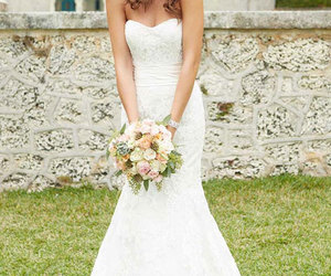 wedding dress, wedding, and bridal gowns image