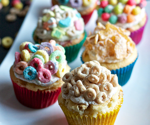 cupcake, cereal, and food image