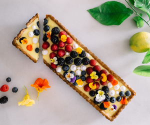 food, tart, and cake image