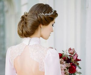 beauty, hairstyle, and bridal image