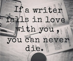 love, quote, and writer image