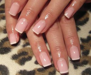 french manicure, nail art, and nail polish image