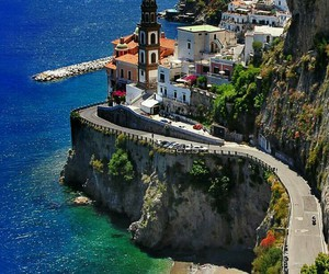 italy, travel, and sea image