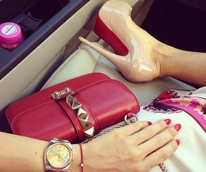 shoes, red, and bag image