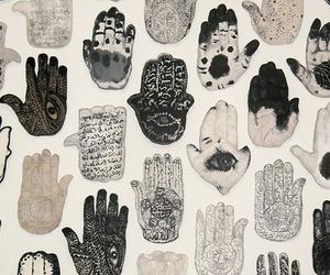 hands, art, and hamsa image