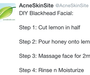 acne, honey, and skin image
