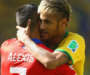 neymar, Alexis, and brazil image