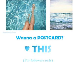 blue, followers, and postcard image