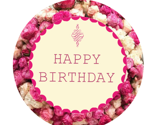 birthday, floral, and sweet image