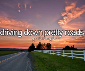 driving, pretty, and roads image