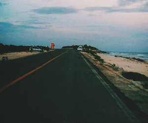 road, travel, and grunge image