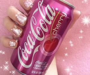 pink, cherry, and coca cola image