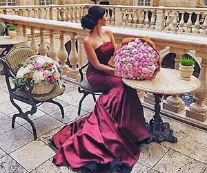 flowers, dress, and luxury image